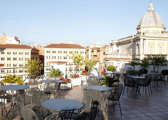 Rooftop terrace gallia hotel rome