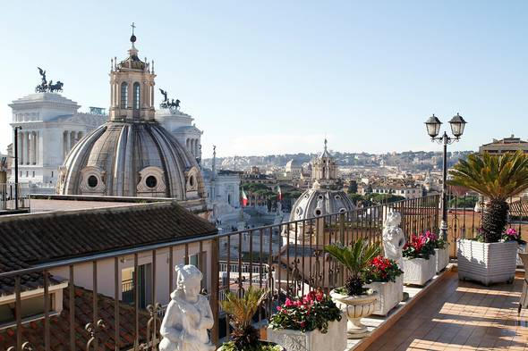 Fantastic rooftop pace helvezia hotel rome
