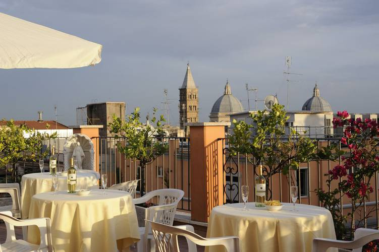 Panoramic view torino hotel rome