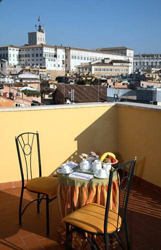 Terrace boutique hotel trevi rome